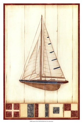 Americana Yacht I Poster by Ethan Harper for $21.25 CAD
