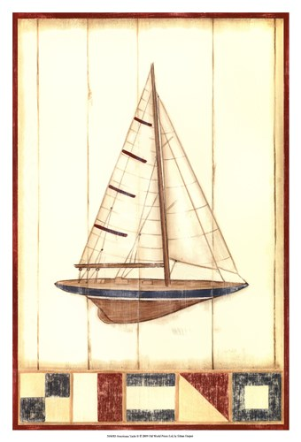 Americana Yacht II Poster by Ethan Harper for $21.25 CAD