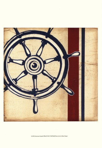 Americana Captain's Wheel Poster by Ethan Harper for $21.25 CAD