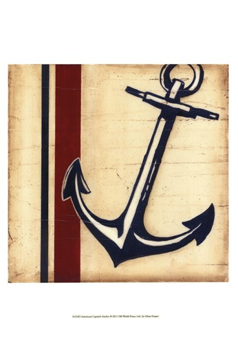 Americana Captain's Anchor Poster by Ethan Harper for $21.25 CAD