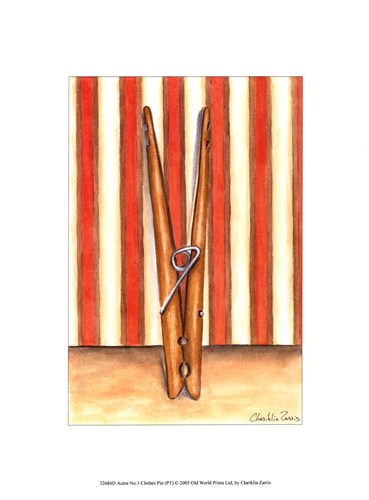 Acme No. 1 Clothes Pin (PT) Poster by Chariklia Zarris for $13.75 CAD