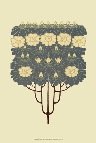 Arts and Crafts Tree IV Poster by Vision Studio for $21.25 CAD