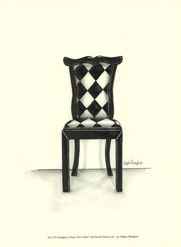 Designer Chair VII Poster by Megan Meagher for $13.75 CAD