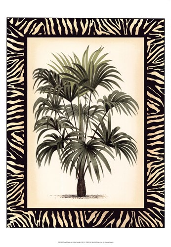 Small Palm in Zebra Border I Poster by Vision Studio for $21.25 CAD