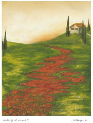 Tuscany at Sunset I Poster by Jennifer Goldberger for $21.25 CAD
