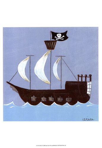 Ahoy! Poster by June Erica Vess for $21.25 CAD