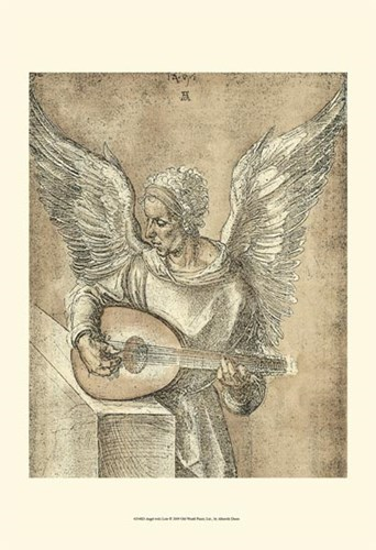Angel with Lute Poster by Albrecht Durer for $20.00 CAD