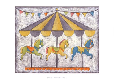 Carnival Carousel Poster by Chariklia Zarris for $21.25 CAD