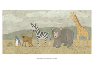 Animals All in a Row II Poster by Megan Meagher for $21.25 CAD