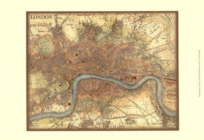 Map of London Poster by Vision Studio for $21.25 CAD