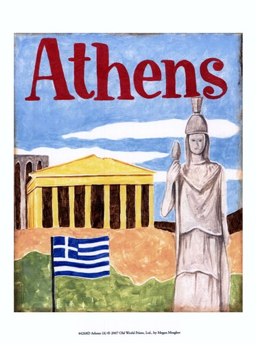 Athens (A) Poster by Megan Meagher for $12.50 CAD