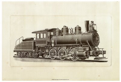 Train Engine IV Poster by Unknown for $25.00 CAD