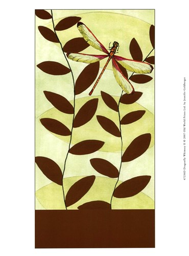 Dragonfly Whimsey II Poster by Jennifer Goldberger for $13.75 CAD