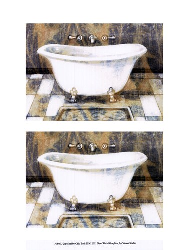 2up Shabby Chic bath III Poster by Vision Studio for $13.75 CAD