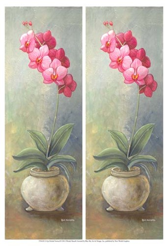 2-Up Orchid Vertical Poster by Wendy Russell for $21.25 CAD