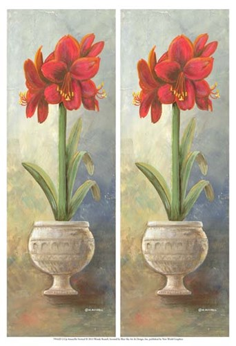 2-Up Amaryllis Vertical Poster by Wendy Russell for $21.25 CAD