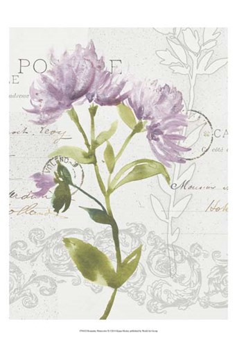 Romantic Watercolor II Poster by Kiana Mosley for $21.25 CAD