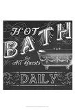 Chalkboard Bath Signs II