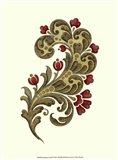 Jacobean Leaf II