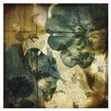 Vintage Teal Blooms I