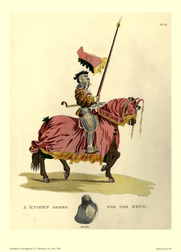 1512-Knight Armed Poster by Samuel R. Meyrick for $21.25 CAD