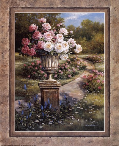 Path with Flowers Poster by T.C. Chiu for $18.75 CAD