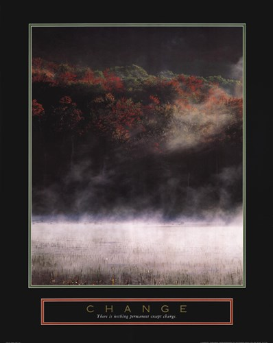 Change - Misty Lake Poster by Unknown for $25.00 CAD