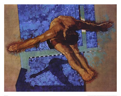 Olympic Diver Poster by Michael C. Dudash for $25.00 CAD
