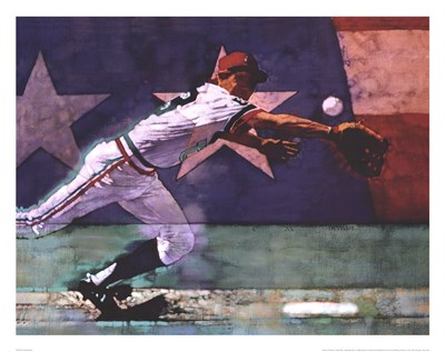 Olympic Baseball Poster by Michael C. Dudash for $25.00 CAD