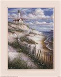 Lighthouse with Deserted Beach
