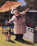 Barbecue Chef and Dog