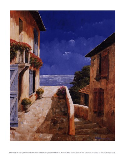 Villa by the Sea Poster by Gilles Archambault for $10.00 CAD