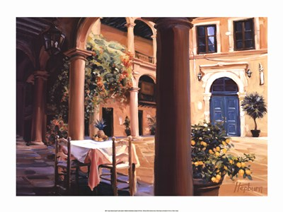 A Lemon Scented Courtyard Poster by Steve Hepburn for $45.00 CAD