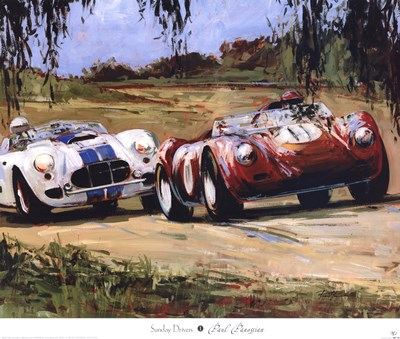 Sunday Drivers Poster by Paul Panossian for $63.75 CAD