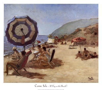 A Day on the Beach I Poster by Carme Sala for $52.50 CAD