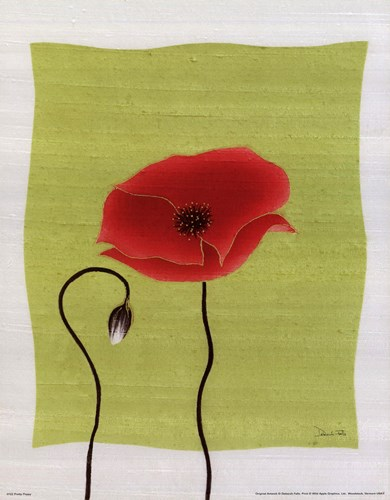 Pretty Poppy Poster by Deborah Falls for $15.00 CAD