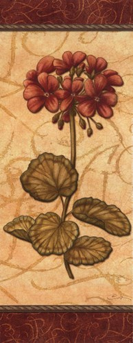 Red Passion Geranium - Petite Poster by Charlene Audrey for $10.00 CAD