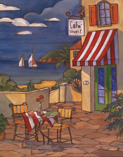 Cafe Cheri - Mini Poster by Paul Brent for $10.00 CAD