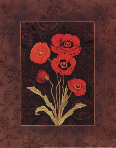 Damask Poppy - petite Poster by Paul Brent for $10.00 CAD
