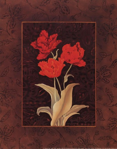 Damask Tulip - petite Poster by Paul Brent for $10.00 CAD