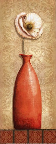 Asian Red I - mini Poster by Delphine Corbin for $10.00 CAD