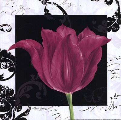 Damask Tulip IV Poster by Pamela Gladding for $13.75 CAD