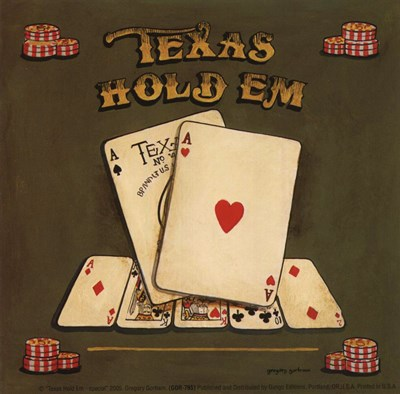 Texas Hold Em - special Poster by Gregory Gorham for $10.00 CAD