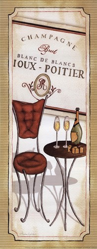 Champagne Poster by Andrea Laliberte for $16.25 CAD