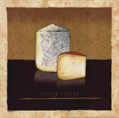Cheeses II Poster by Andrea Laliberte for $13.75 CAD