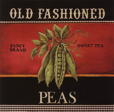 Old Fashioned Peas Poster by Kimberly Poloson for $10.00 CAD