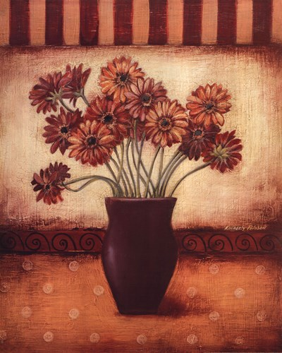 Red Daisies Poster by Kimberly Poloson for $21.25 CAD