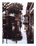 Sidewalk in Rain
