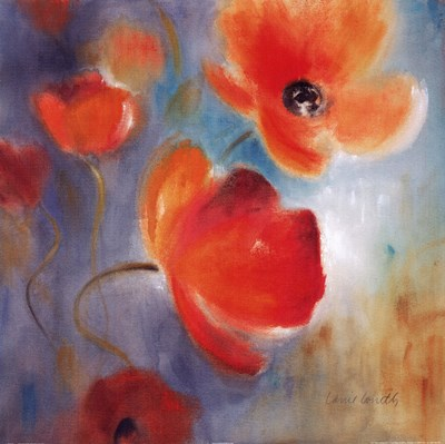 Scarlet Poppies In Bloom I Poster by Lanie Loreth for $31.25 CAD
