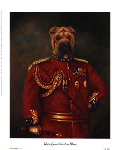 Major-General Woof Poster by Massy for $12.50 CAD
